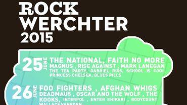 Rock Werchter 2015 se déroulera du 25 au 28 juin inclus