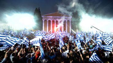 Dernier meeting pour la droite conservatrice en Grèce, avant le scrutin du 6 mai