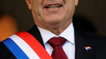 Le président du Paraguay Horacio Cartes, le 15 août 2013 à Asuncion