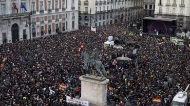 Espagne: des milliers de partisans de Podemos dans les rues de Madrid