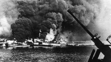Photo d'illustration : ici, il s'agit d'un navire américain attaqué par les nazis en 1943