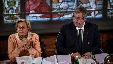 Patrick et Isabelle Balkany assistent au conseil municipal de Levallois-Perret le 15 avril 2019