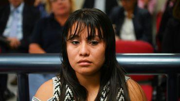 Evelyn Hernandez, une jeune femme qui a perdu son bébé, à nouveau jugée pour homicide au Salvador, à Ciudad Delgado, le 15 août 2019