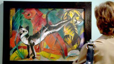 """""""Trois chats"""", une oeuvre de Franz Marc"""