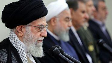 Le guide suprême l'ayatollah Ali Khamenei le 29 août 2018 à Téhéran (tranmise par le gouvernement iranien)