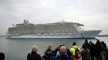 "L'""Oasis of the Seas"" dans le port de Southampton, le 15 octobre 2014."