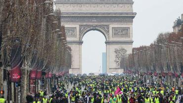 Image pris lors de la manifestation des gilets jaunes, le 15 décembre 2018