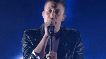 Loïc Nottet lors de son passage à The Voice Belgique