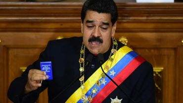 """""""Engagez des démarches, Chancelier, afin que je puisse avoir une conversation personnelle avec Donald Trump"""", a ordonné M. Maduro à son ministre des Affaires étrangères Jorge Arreaza."""