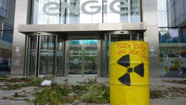 """Action de l'EZLN pour """"rendre ses déchets nucléaires"""" à Engie Electrabel"""