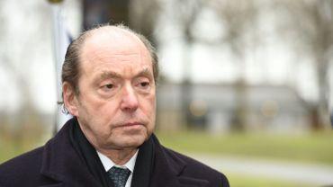 Ronald Gidwitz, ambassadeur américain en Belgique, au Mardasson à Bastogne, en décembre 2020