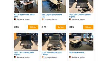 Thomas Cook Belgique: le mobilier et les équipements de bureau du Tour-opérateur vendus aux enchères.