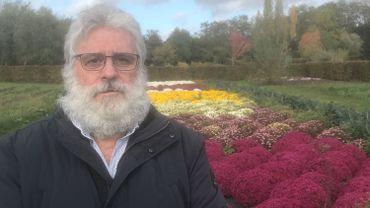Guy Van Michel Dit Valet connaît bien l'histoire et la symbolique du chrysanthème