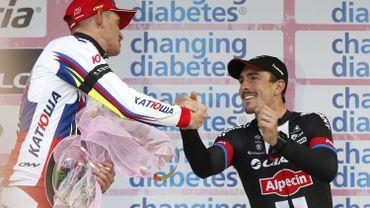 Cyclisme: John Degenkolb, à droite