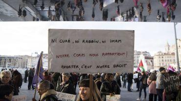 Manifestation en faveur de l'avortement. Marseille, 8 mars 2018.