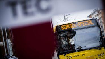 Un bus TEC endommagé à cause d'un jet de pierre à Dison