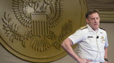 L'Amiral Michael Rogers, directeur de la NSA et commandant de l'US Cyber Command, à Washington le 28 mai 2014