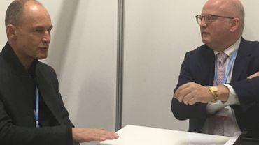 """Jean-Luc Crucke et Bertrand Piccard ont convenu de la signature d'un engagement entre la Wallonie et la Fondation """"dans les deux mois à venir""""."""