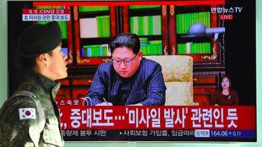 Le Président coréen à la télévision le 29 novembre.
