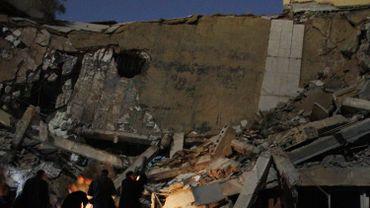 A Tripoli, ce bâtiment désigné comme un QG de Mouammar Kadhafi a été détruit par une frappe aérienne