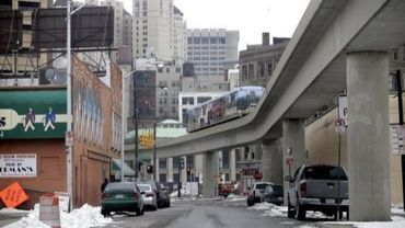 Une rue de Detroit, dans le Michigan, le 24 février 2013