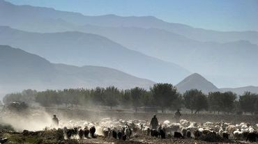 Des bergers dans la vallée de Payan Shahr dans la province de Badakhshan