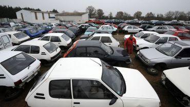 Les ventes de voitures d'occasion en diminution, un recul de 6,3% en 2020