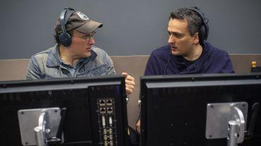 """Anthony et Joe Russo lors de la post-production de """"Captain America : Le Soldat de l'hiver"""""""