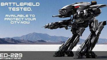 """L'ED-209 de Paul Verhoeven prend un coup de jeune pour le reboot de """"Robocop""""."""