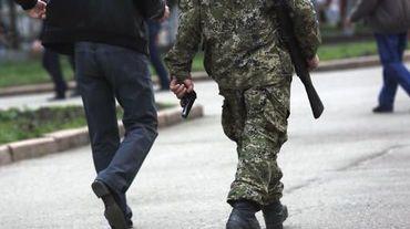 Des militants pro-russes à Slaviansk le 19 avril 2014