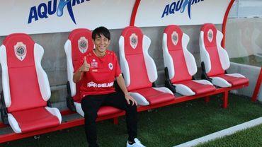 Une nouvelle arrivée à l'Antwerp avec l'attaquant Koji Miyoshi