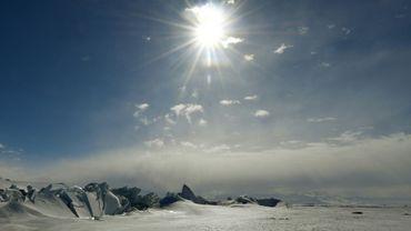 La mer de Ross en Antarctique en novembre 2016