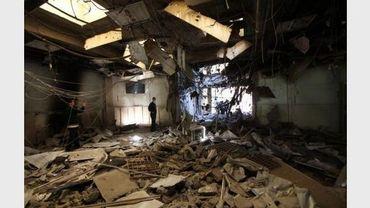 Un bâtiment gouvernemental détruit par un raid de l'Otan à Tripoli, le 17 mai 2011