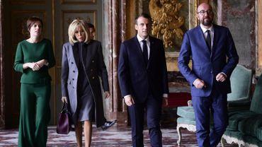 """Emmanuel Macron en Belgique: """"La France soutient clairement le Pacte pour les migrations"""""""