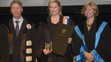 Kim Clijsters honorée par la VUB