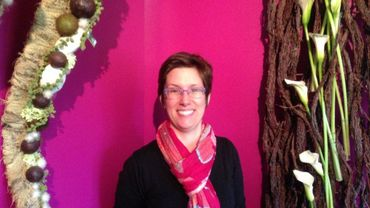 Chantal Post, fleuriste à Vielsalm est sélectionnée pour la vitrine de l'artisan