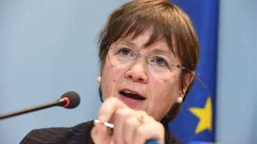 Au programme aussi pour la ministre Alda Greoli (cdH) : visite du stand de la Belgique francophone et déjeuner avec des auteurs belges.