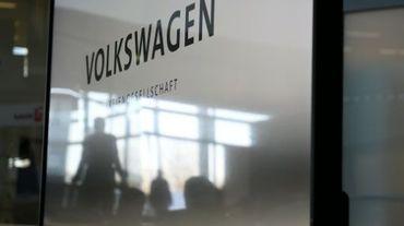 Conférence de presse au siège de Volkswagen à Wolfsburg, le 10 décembre 2015