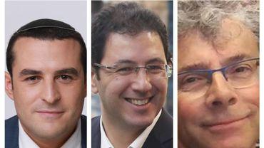 De gauche à droite: Yomtob Kalfon de La Nouvelle Droite, Binyamin Lachkar du Likoud, Marco Sarrabia du parti travailliste