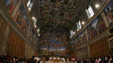 Les fresques de la vo te de la chapelle sixtine - Fresque du plafond de la chapelle sixtine ...