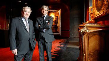 Jean-Claude Binoche (G) et Alexandre Giquello, président de Drouot Patrimoine.