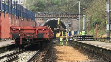 Les travaux entraînent la fermeture totale de la circulation des trains entre Liège-Guillemins et Herstal