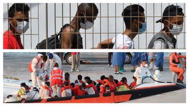 Migrants arrivant sur l'île de Lampedusa, en 2020 (illustration)