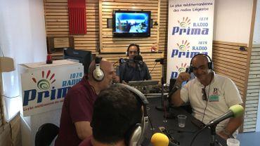 Dans le studio de Radio Prima