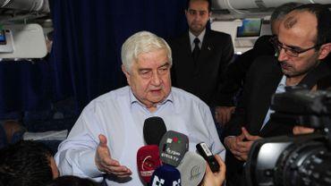 Walid Moallem, ministre des Affaires étrangères syrien à Genève ce dimanche