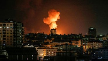 Photo prise le 24 février 2020 dans la ville de Gaza après une frappe israélienne