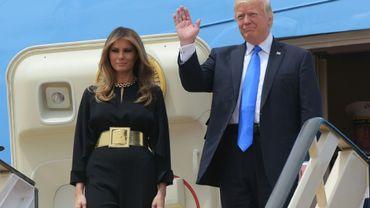 Ivanka Trump et son époux Jared Koushner à Ryad, le 20 mai 2017
