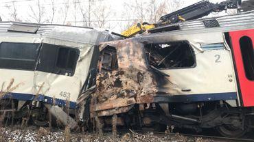 Les wagons accidentés en novembre 2017