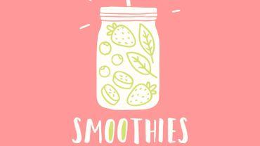 Un smoothie à la banane et à la framboise... un peur délice pour rafraîchier et bien commencer vos matins.
