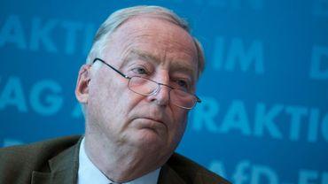 Le chef du parti d'extrême droite allemand AfD, Alexander Gauland, lors d'une conférence de presse à Berlin, le 11 septembre 2018.